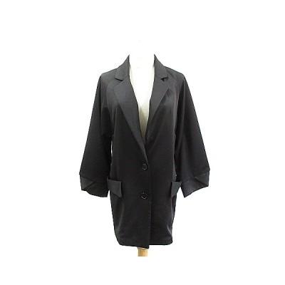 【中古】ムルーア MURUA ジャケット テーラード ロング シングル F 黒 ブラック /AAM3 レディース 【ベクトル 古着】