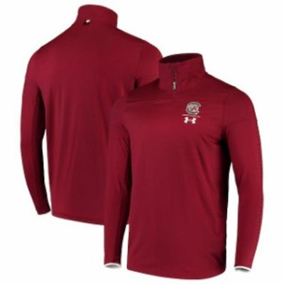 Under Armour アンダー アーマー スポーツ用品  Under Armour South Carolina Gamecocks Garnet 2018 Sideline 1/4 Zip Pe