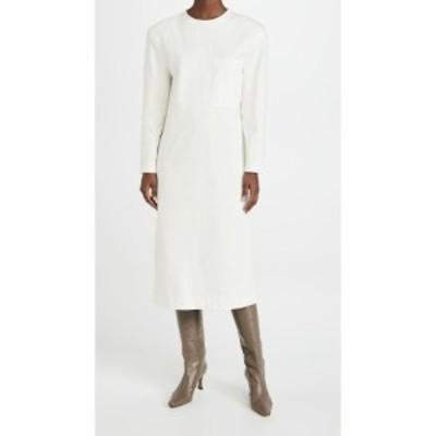 ティビ Tibi レディース ワンピース ワンピース・ドレス Long Sleeve Shoulder Pad Dress White