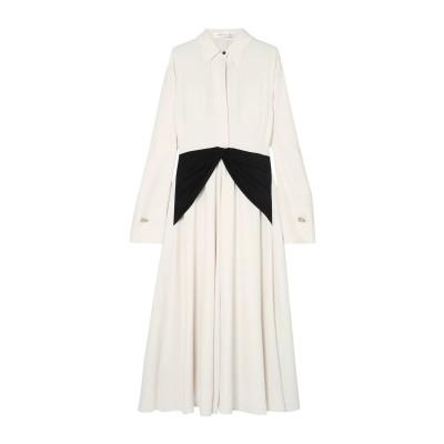 VICTORIA BECKHAM ロングワンピース&ドレス ホワイト 10 トリアセテート 100% ロングワンピース&ドレス