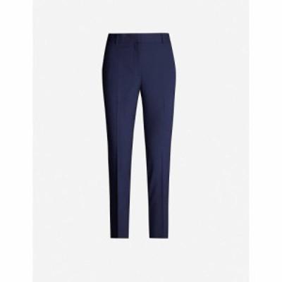 セオリー THEORY レディース クロップド ボトムス・パンツ Treeca cropped stretch-wool tapered trousers SEA BLUE