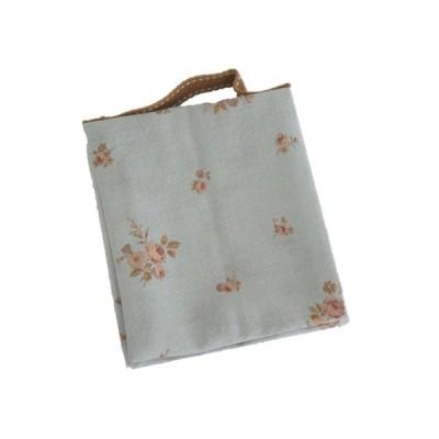 ポーチ 2ポケット 花柄 水色 持ち手付き 生理用 化粧用 サニタリーポーチ SP-9 セール