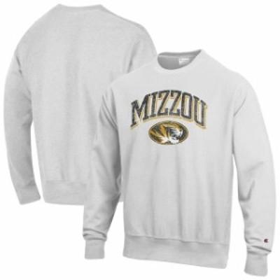 Champion チャンピオン スポーツ用品  Champion Missouri Tigers Gray Arch Over Logo Reverse Weave Pullover Sweatshirt