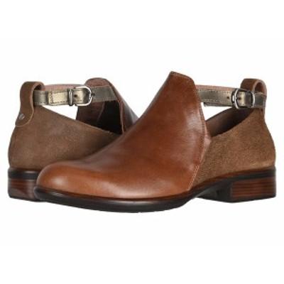 ナオト レディース ブーツ&レインブーツ シューズ Kamsin Maple Brown Leather/Antique Brown Leather/Pewter