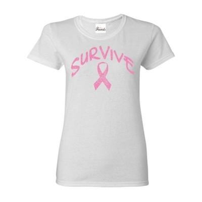 レディース 衣類 トップス Womens Survive Pink Ribbon Short Sleeve T-Shirt Tシャツ
