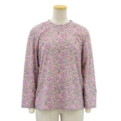 シニアファッション 春 夏 秋 母の日 70代 80代 90代京染 チェック ジャガード カットソー Tブラウス 日本製 春夏