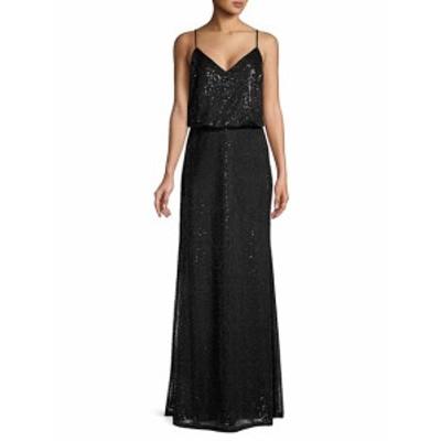 カルバンクライン レディース ワンピース Sequin-Embellished Floor-Length Gown