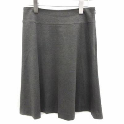 【中古】デミルクス ビームス Demi-Luxe BEAMS スカート ひざ丈 フレア 36 グレー /MF レディース