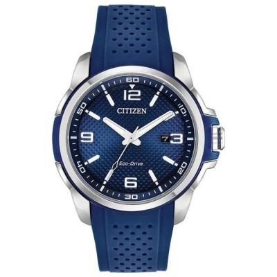 シチズン メンズ 腕時計 アクセサリー Drive From Citizen Eco-Drive Men's Blue Polyurethane Strap Watch 45mm