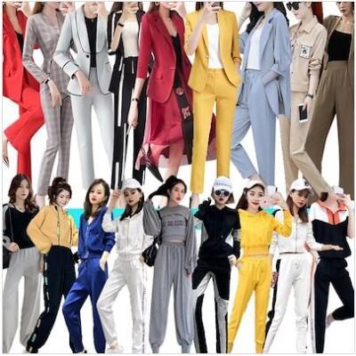 レディースファッションセットアップ/スーツ/パンツ/ブラウス/フリル/大きいサイズ/スカンツ/連体/ワンピース