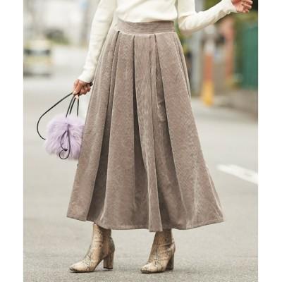 【ティティベイト/titivate】 コーデュロイタックデザインフレアスカート