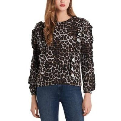 ワンステイト レディース ニット&セーター アウター Printed Ruffle Sweater Luxe Animal