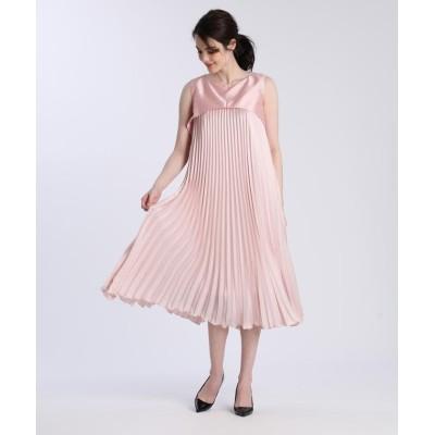 【エフデ】 《M Maglie le cassetto》ドッキングプリーツドレス レディース ピンク1 09 ef-de