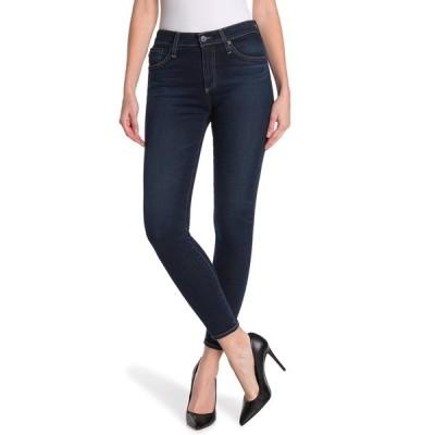 エージー レディース デニムパンツ ボトムス Farrah High Waist Ankle Crop Skinny Jeans 8 YEARS BLUE LA