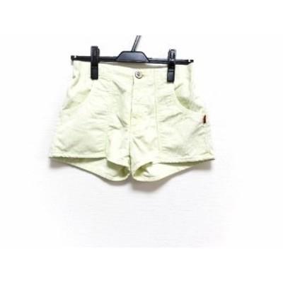 ダブルスタンダードクロージング DOUBLE STANDARD CLOTHING ショートパンツ サイズ38 M レディース 美品 ライトグリーン【還元祭対象】【