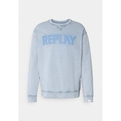 リプレイ パーカー・スウェットシャツ メンズ アウター Sweatshirt - light blue