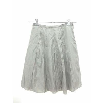【中古】ボディドレッシングデラックス BODY DRESSING Deluxe スカート フレア ひざ丈 シルク混 36 グレー /KB レディース