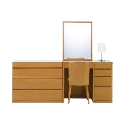 ドレッサー 一面鏡 リッツ チェスト90セット ホテルタイプ 椅子付き セットでお得 じょゆどれ