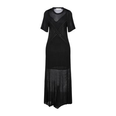 セドリック シャルリエ CEDRIC CHARLIER ロングワンピース&ドレス ブラック 40 レーヨン 100% ロングワンピース&ドレス