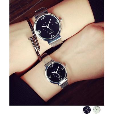 (miniministore/ミニミニストア)腕時計 レディース シンプル 38mm 30mm ウォッチ ペア お揃い カップル プレゼント/レディース ブラック