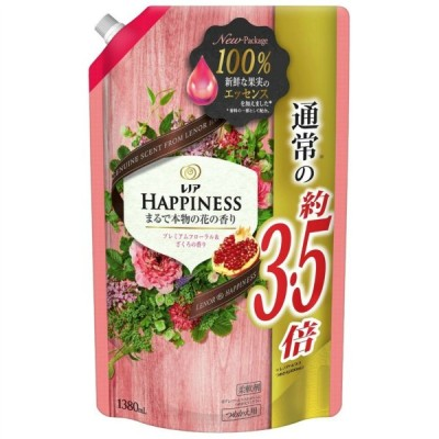P&G レノアハピネス ナチュラルフレグランス プレミアムフローラル&ざくろの香り つめかえ用 超特大サイズ 1380ml 柔軟剤
