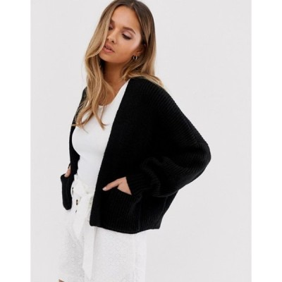 エイソス レディース カーディガン アウター ASOS DESIGN short boxy edge to edge cardigan with pockets