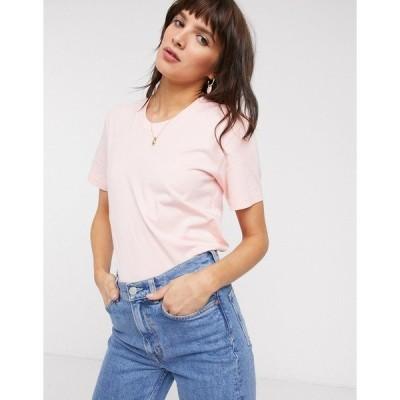 アンドアザーストーリーズ レディース Tシャツ トップス & Other Stories organic cotton basic t-shirt in pink 124 pink