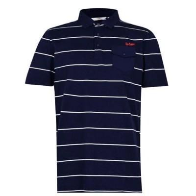レークーパー シャツ メンズ トップス Stripe Polo Mens