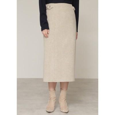 スカート ◆ウールリバー配色セットアップスカート【セットアップ対応商品】