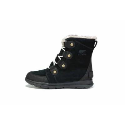 ブーツ ソレル  SOREL WOMEN'S EXPLORER JOAN BOOT 1808061010 BLACK/DARK STONE