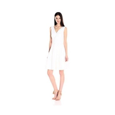 ドレス アンクライン Anne Klein レディース ドレス・ワンピース 10612278 コットン Eyelet ストライプd Vneck Optic White