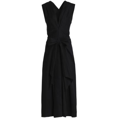 TOME 7分丈ワンピース・ドレス ブラック 0 コットン 97% / ポリウレタン 3% 7分丈ワンピース・ドレス