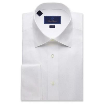 メンズ シャツ トップス Trim Fit Dobby Weave French Cuff Formal Shirt