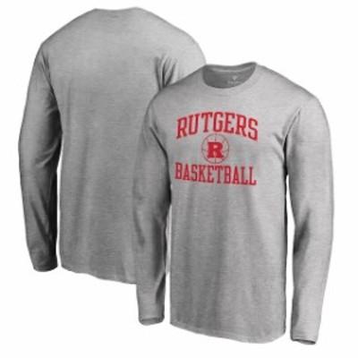 Fanatics Branded ファナティクス ブランド スポーツ用品  Fanatics Branded Rutgers Scarlet Knights Heathered Gray In Bounds Long Sl