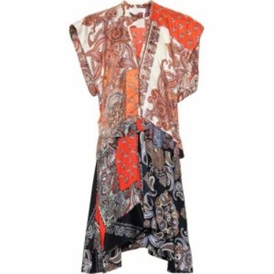 クロエ Chloe レディース ワンピース ワンピース・ドレス Printed twill minidress Summery Beige