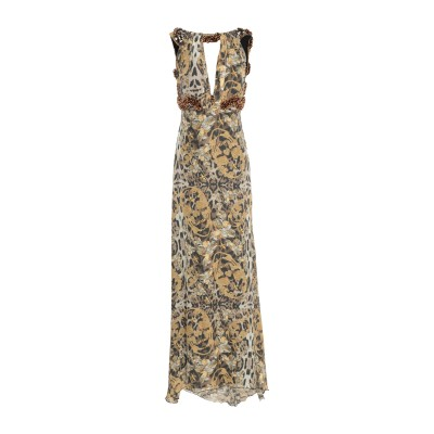 PHILIPP PLEIN ロングワンピース&ドレス ベージュ XS シルク 100% ロングワンピース&ドレス