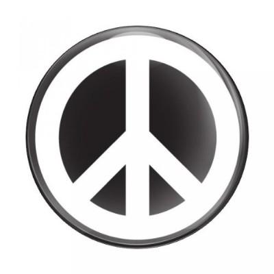全国配送料無料!SIGN_PEACE_W_B - 3磁気グリル バッジ/UV 安定・耐候性/GoBadges グリル バッジ ホルダー付け作品 海外正規流通品 並行輸入品