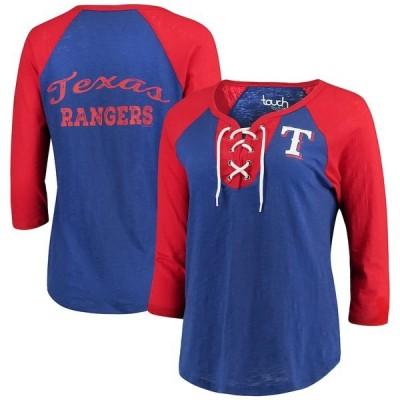 アリッサミラノ Tシャツ トップス レディース Texas Rangers Touch by Alyssa Milano Women's Home Run T-Shirt Royal/Red