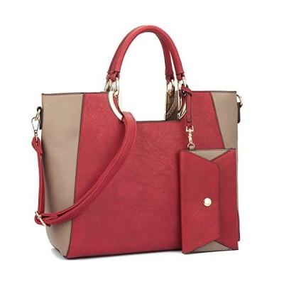 Dasein レディース ファッション デザイナー カラー ブロック Satchel トート ショルダー Bag ハンドバッグ パース『海外取寄せ品』