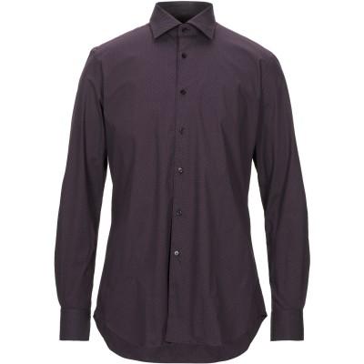XACUS シャツ パープル 41 コットン 97% / 指定外繊維(その他伸縮性繊維) 3% シャツ