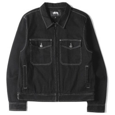 STUSSY ステューシー ジャケット デニム ジップ ジャケット ブラック M 【メンズ】【中古】【K2624】