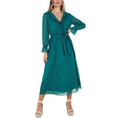 クイズ レディース ワンピース トップス Metallic-Stripe Maxi Dress