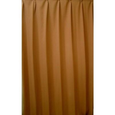 newBT-SB001-1 良品チジミA級ドレープカーテン丈90cm〜148cm(選択要 ) 幅100cm×2枚 Or 幅200cm×1枚(選択要 価格は同じ)カラー:オレンジ