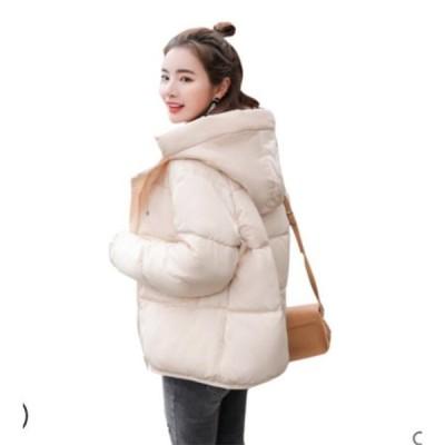 中綿ジャケット レディース ブルゾン 中綿コート ライトジャケット アウター ショート丈 冬 防寒 ダウンコート フード付き