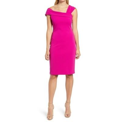 ヴィンスカムート レディース ワンピース トップス Asymmetrical Bodycon Dress FUCHSIA