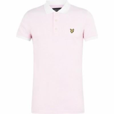 ライル アンド スコット Lyle and Scott メンズ ポロシャツ トップス Contrast Collar Polo Shirt Pink/White Z