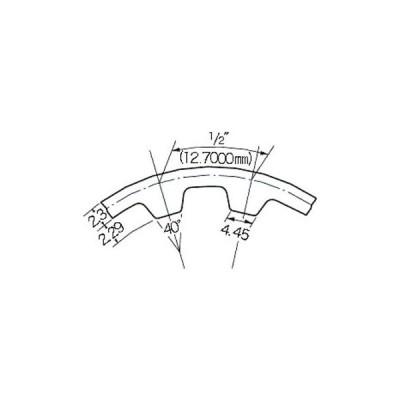 タイミングベルト H形(クロロプレンゴム) 三ツ星ベルト 225H075G