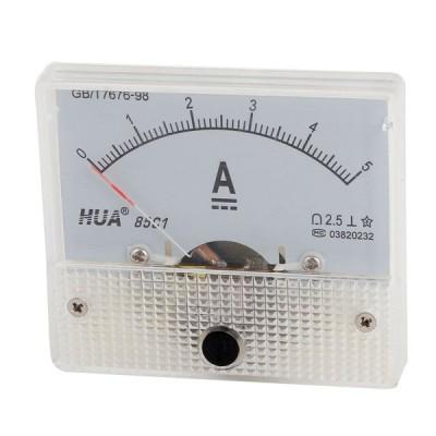uxcell アナログ電流計 クラス2.5精度 85C1 電流計ゲージ 5Aダイヤルアナログパネル