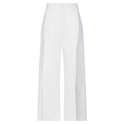 ローラン ムレ ROLAND MOURET パンツ ホワイト 8 レーヨン 50% / アセテート 47% / ポリウレタン 3% パンツ