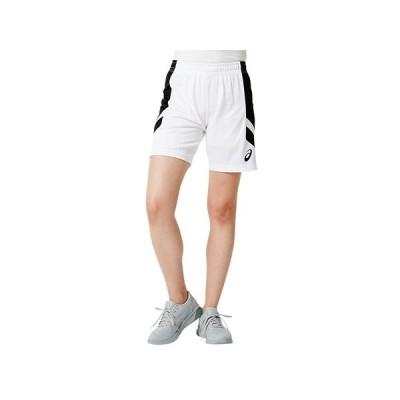 [アシックス] バスケットボールウエア ゲームパンツ 2062A015 [レディース] ブリリアントホワイト/ブラック 日本 L (日本サイズL相当)